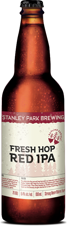 Fresh Hop Red IPA - Stanley Park Brewing