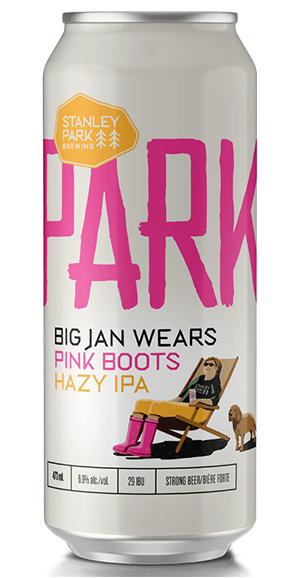 Big Jan Wears Pink Boots Hazy IPA - Stanley Park Brewing