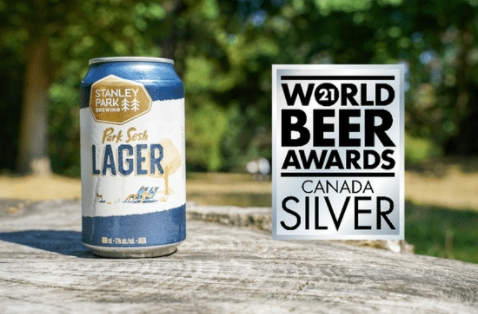 a can of park sesh lager with a silver award