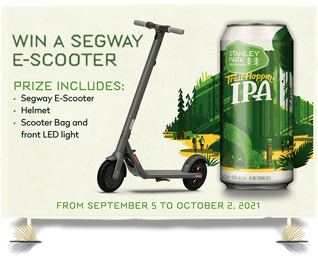 Win a Segway E-Scooter with Trail Hopper IPA